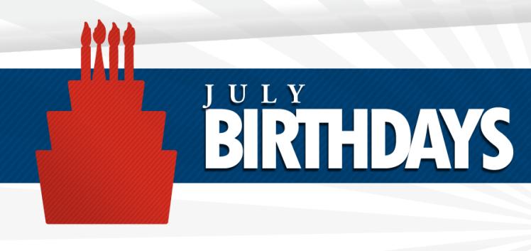 July Birthdays banner
