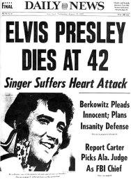 presley dead